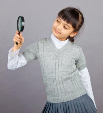 1318 Жилет для девочки с рукавом п/ш